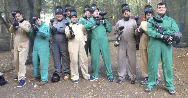Armed and ready for some paint balling action