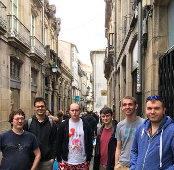 The boys exploring Santiago