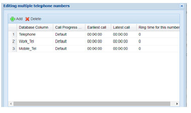 Multiple numbers per record in Softdial Campaign Manager™