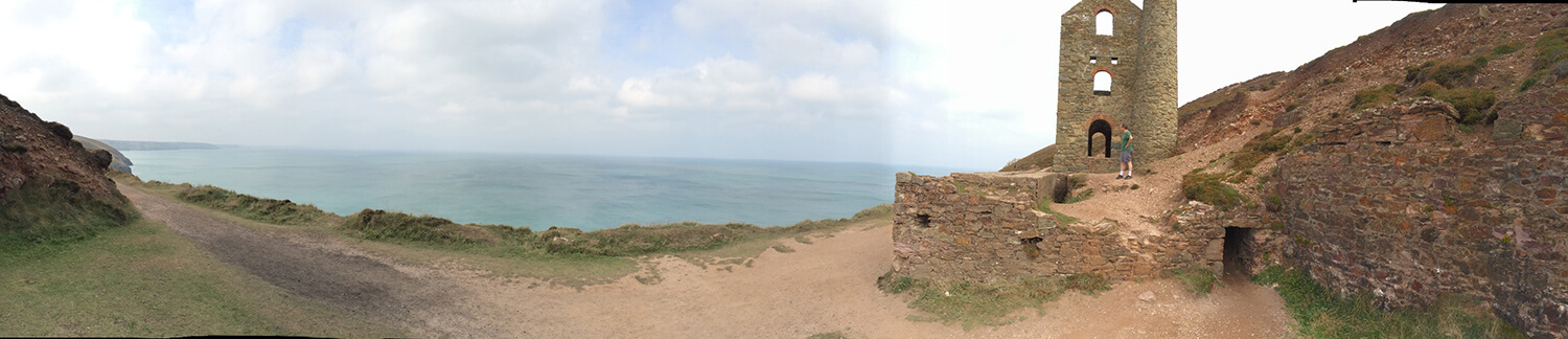 Exploring the cliffs and Wheal Coates