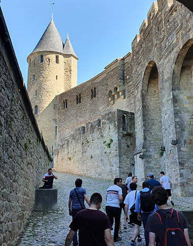 Up the hill to Carcassonne