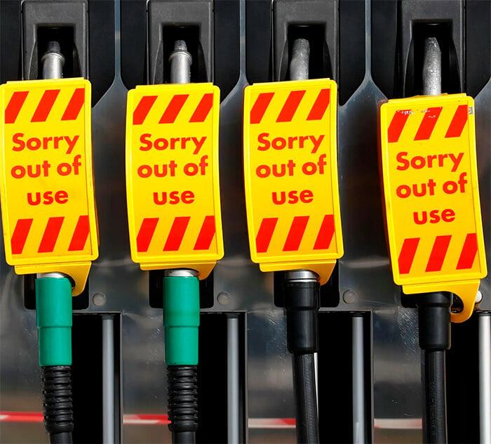 The UK Petrol Crisis - empty pumps